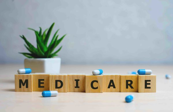 Medicare spelled out on blocks