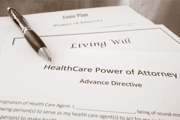 A healthcare power of attorney form